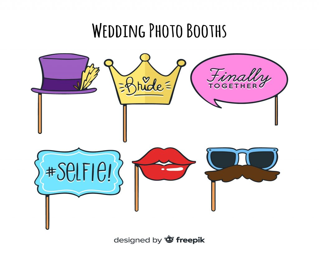 wedding photo booth props for fun