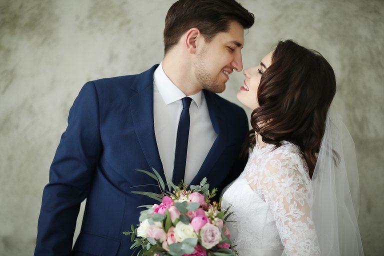 Couple enjoying their dream wedding